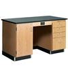 "Diversified Woodcrafts 5' Instructor's Desk w/ Cabinet on Left Side - Phenolic Resin Top - 60""W x 30""D<br>(Diversified Woodcrafts DIV-1214KF-L)"
