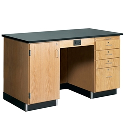 "Diversified Woodcrafts Instructor's Desk w/ Flat Top - 60"" W X 30"" D <br>(Diversified Woodcrafts DIV-1214KF-L)"