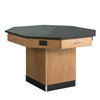 "Diversified Woodcrafts Octagon Workstation Pedestal Base w/ Flat Top - 56"" W x 56"" D (Diversified Woodcrafts DIV-1514KF)"