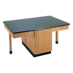 "Diversified Woodcrafts 4 Station Table w/ 1-1/4"" Plastic Laminate Top, Plain Apron (Diversified Woodcrafts DIV-2301K)"