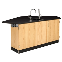 Diversified Woodcrafts Forward Vision II Workstaion, 4 Student w/ Drop-In Sink (Diversified Woodcrafts DIV-2944K)