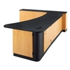 Diversified Woodcrafts Sink In Penisula Workstation - Right w/ Epoxy Top (Diversified Woodcrafts DIV-3516KF-R)