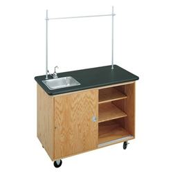 "Diversified Woodcrafts Economy Mobile Lab Table w/ Sink - 48"" W x 24"" D (Diversified Woodcrafts DIV-4111K)"