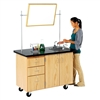 "Diversified Woodcrafts Mobile Instructor's Desk w/ Sink - 48"" W x 28"" D (Diversified Woodcrafts DIV-4332K)"