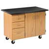 "Diversified Woodcrafts Mobile Instructor's Desk w/ Flat Top - 48"" W x 28"" D (Diversified Woodcrafts DIV-4332KF)"