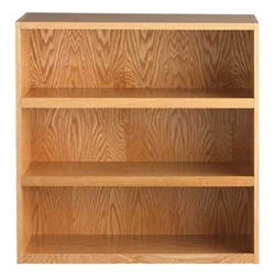 "Diversified Woodcrafts Oak Storage Bookcase - 36"" Height (Diversified Woodcrafts DIV-445-3616)"