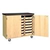 Diversified Woodcrafts Mobile Tote Tray Storage Cabinet (Diversified Woodcrafts DIV-4751K)