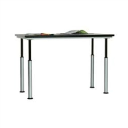 "Diversified Woodcrafts Adjustable Height Table w/ Grey Glace Laminate - 60"" W x 42"" H (Diversified Woodcrafts DIV-ALT-6042GG)"