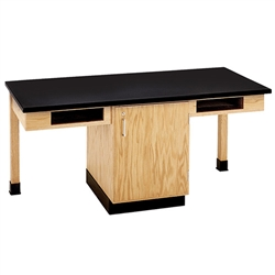 "Diversified Woodcrafts 2 Station Table w/ 1-1/4"" Plastic Laminate Top, Compartment (Diversified Woodcrafts DIV-C2101K)"