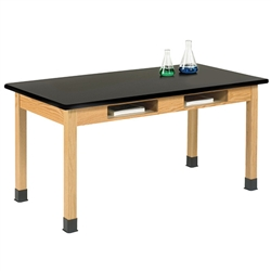 Diversified Woodcrafts Oak Table w/ Book Compartments - Plastic Laminate Top (Diversified Woodcrafts DIV-C7161K30N)