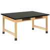 "Diversified Woodcrafts Science Table w/ Book Compartment - ChemGuard Top - 72""W X 42""D<br> (Diversified Woodcrafts DIV-C7402K30L)"