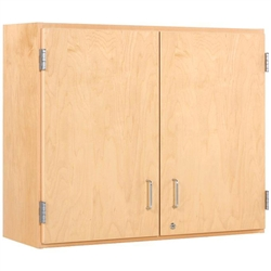 "Diversified Woodcrafts Maple Double Door Wall Storage Cabinet - 48""W x 30""H (Diversified Woodcrafts DIV-D03-4812M)"
