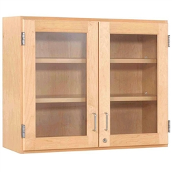 "Diversified Woodcrafts Maple Glass Door Wall Storage Cabinet - 36""W x 30""H(Diversified Woodcrafts DIV-D06-3612M)"