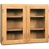 "Diversified Woodcrafts Oak Glass Door Wall Storage Cabinet - 42""W x 30""H(Diversified Woodcrafts DIV-D06-4212)"