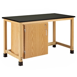 Diversified Woodcrafts Add-a-cabinet Table w/ Single Door Cabinet - Epoxy Resin Top (Diversified Woodcrafts DIV-H7146K36S-33)