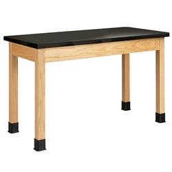 "Diversified Woodcrafts  Science Table - Plain Apron - Epoxy Resin Top - 48"" W x 24"" D (Diversified Woodcrafts DIV-P7106K30N)"