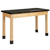 "Diversified Woodcrafts  Science Table - Plain Apron - Phenolic Resin Top - 54"" W x 24"" D (Diversified Woodcrafts DIV-P7204K30N)"