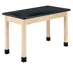 "Diversified Woodcrafts Science Lab Table w/ Epoxy Resin Top (24"" W x 54"" L)<br> (Diversified Woodcrafts DIV-P7206M30N)"