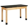 "Diversified Woodcrafts Oak Science Table - Epoxy Resin Top - 72""W x 21""D (Diversified Woodcrafts DIV-P7236K30N)"