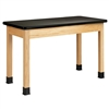 "Diversified Woodcrafts Oak Science Table - Plastic Laminate Top - 72""W x 36""D (Diversified Woodcrafts DIV-P7241K30N)"