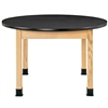 "Diversified Woodcrafts Oak Round Science Table - Epoxy Resin Top - 48"" Dia (Diversified Woodcrafts DIV-P7486K30N)"
