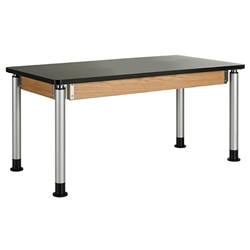 "Diversified Woodcrafts Adjustable-Height Table - Plastic Laminate Top 60""W x 30""D (Diversified Woodcrafts DIV-P8141K)"