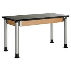 "Diversified Woodcrafts  Adjustable-Height Table - ChemGuard Top - 54"" W x 24"" D (Diversified Woodcrafts DIV-P8202K)"