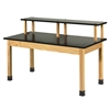 "Diversified Woodcrafts Riser Table w/ Epoxy Resin Top - 72""W x 30""D (Diversified Woodcrafts DIV-PR7156K30S)"