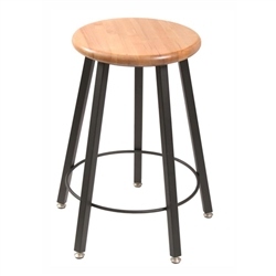 "Diversified Woodcrafts Fixed Height Fully Welded 5- Leg Stool - 18"" H<br> (Diversified Woodcrafts DIV-STL9186-AH)"