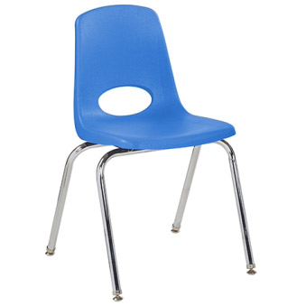 "ELR Stackable School Chair w/ Chrome Legs - 10"" Seat Height  (ECR4Kids ELR-0192)"
