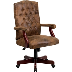 Flash Furniture Bomber Brown Classic Executive Office Chair<br>(FLA-802-BRN-GG)