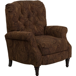 Flash Furniture Traditional Tobacco Fabric Tufted Hi-Leg Recliner<br>(FLA-AM-2650-6370-GG)