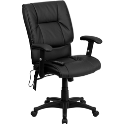 Flash Furniture Mid-Back Black Mesh Chair with Flexible Dual Lumbar Support<br>(FLA-BT-2770P-GG)