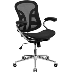 Flash Furniture Mid-Back Black Mesh Computer Chair with Chrome Base<br>(FLA-BT-2779-GG)