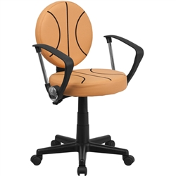 Flash Furniture Basketball Task Chair with Arms<br>(FLA-BT-6178-BASKET-A-GG)