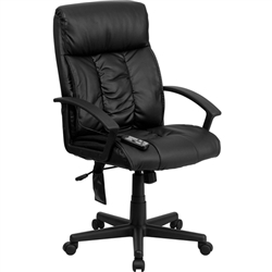 Flash Furniture High Back Massaging Black Leather Executive Office Chair<br>(FLA-BT-9578P-GG)