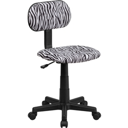 Flash Furniture Black and White Zebra Print Computer Chair<br>(FLA-BT-BT-Z-BK-GG)