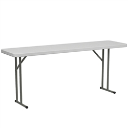 Flash Furniture 18''W x 72''L Granite White Plastic Folding Training Table<br>(FLA-DAD-YCZ-180-GW-GG)