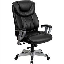 Flash Furniture HERCULES Series Big & Tall Black Leather Office Chair with Arms<br>(FLA-GO-1534-BK-LEA-GG)