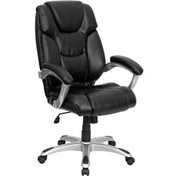 Flash Furniture High Back Black Leather Executive Office Chair<br>(FLA-GO-931H-BK-GG)