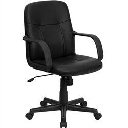 Flash Furniture Mid-Back Black Glove Vinyl Executive Office Chair<br>(FLA-H8020-GG)