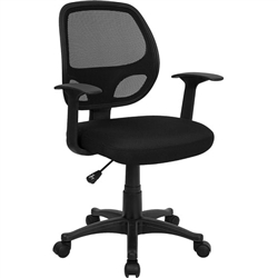 Flash Furniture Mid-Back Black Mesh Computer Chair<br>(FLA-LF-W-118A-BK-GG)