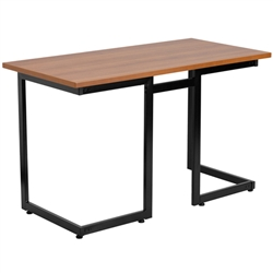 Flash Furniture Cherry Computer Desk with Black Frame<br>(FLA-NAN-JN-2811-GG)