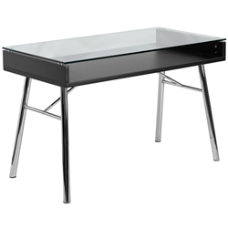 Flash Furniture Computer Desk with Silver Frame<br>(FLA-NAN-JN-2966-GG)