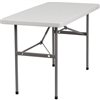 Flash Furniture 24''W x 48''L Granite White Plastic Folding Table<br>(FLA-RB-2448-GG)