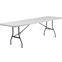 Flash Furniture 30''W x 96''L Plastic Bi-Folding Table<br>(FLA-RB-3096FH-GG)