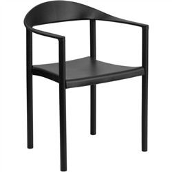 Flash Furniture HERCULES Series 1000 lb. Capacity Plastic Cafe Stack Chair<br>(FLA-RUT-418-GG)