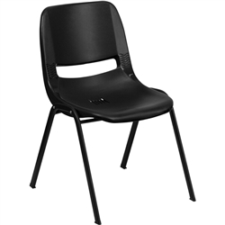 Flash Furniture HERCULES Series 880 lb. Capacity Ergonomic Shell Stack Chair<br>(FLA-RUT-EO1-1-GG)