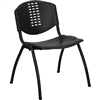 Flash Furniture HERCULES Series 880 lb. Capacity Black Polypropylene Stack Chair with Black Frame Finish<br>(FLA-RUT-NF01A-BK-GG)