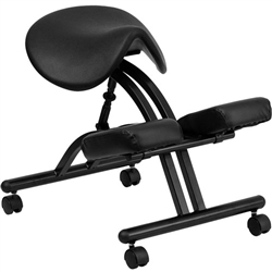 Flash Furniture Ergonomic Kneeling Chair with Black Saddle Seat<br>(FLA-WL-1421-GG)